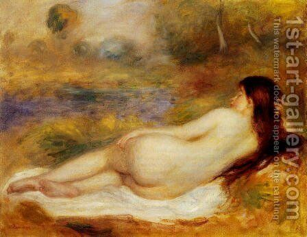 Nude Reclining On The Grass by Pierre Auguste Renoir - Reproduction Oil Painting