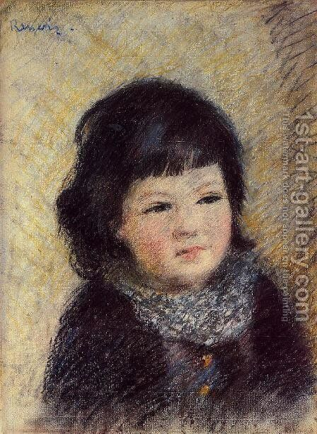 Portrait Of A Child by Pierre Auguste Renoir - Reproduction Oil Painting