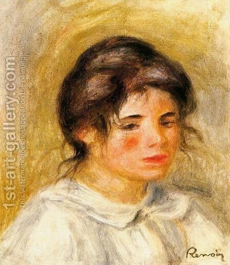 Portrait Of Gabrielle by Pierre Auguste Renoir - Reproduction Oil Painting