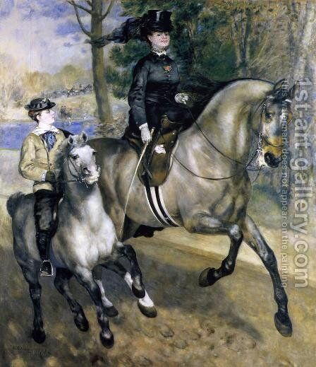 Riding In The Bois De Boulogne Aka Madame Henriette Darras Or The Ride by Pierre Auguste Renoir - Reproduction Oil Painting