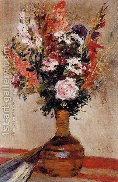 Roses In A Vase6 by Pierre Auguste Renoir - Reproduction Oil Painting