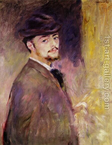 Self Portrait At The Age Of Thirty Five by Pierre Auguste Renoir - Reproduction Oil Painting