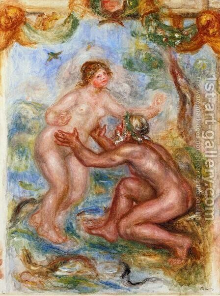 Study For The Saone Embraced By The Rhone by Pierre Auguste Renoir - Reproduction Oil Painting
