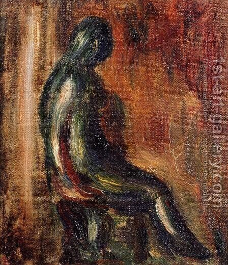 Study Of A Statuette By Maillol by Pierre Auguste Renoir - Reproduction Oil Painting