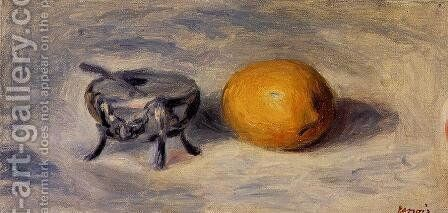 Sugar Bowl And Lemon by Pierre Auguste Renoir - Reproduction Oil Painting