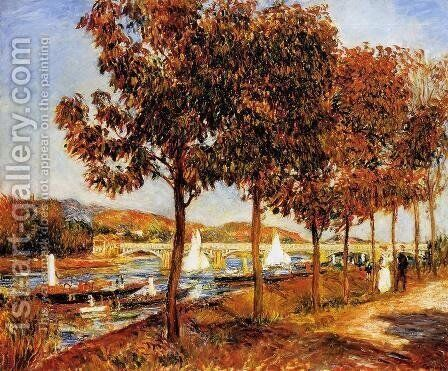 The Bridge At Argenteuil In Autumn by Pierre Auguste Renoir - Reproduction Oil Painting