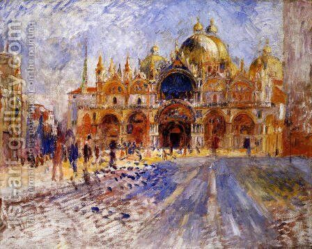 The Piazza San Marco  Venice by Pierre Auguste Renoir - Reproduction Oil Painting