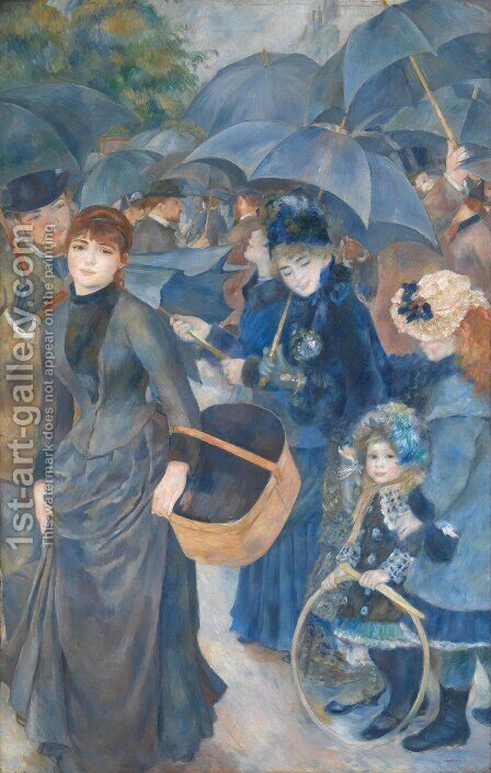 Umbrellas by Pierre Auguste Renoir - Reproduction Oil Painting