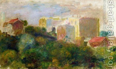 View From Renoirs Garden In Montmartre by Pierre Auguste Renoir - Reproduction Oil Painting