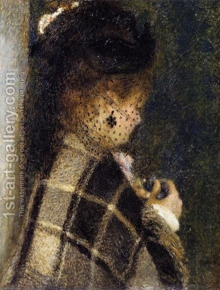 Young Woman With A Veil by Pierre Auguste Renoir - Reproduction Oil Painting