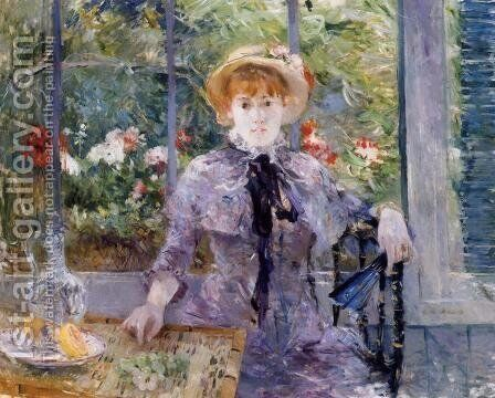After Luncheon by Berthe Morisot - Reproduction Oil Painting