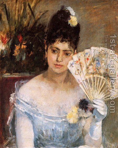 At the Ball 1875 by Berthe Morisot - Reproduction Oil Painting