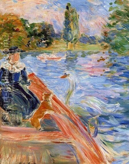 Boating On The Lake by Berthe Morisot - Reproduction Oil Painting