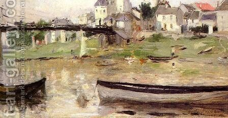 Boats On The Seine by Berthe Morisot - Reproduction Oil Painting
