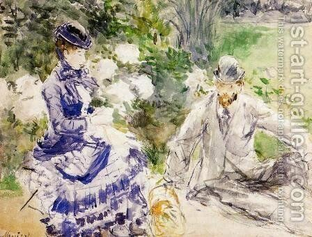 By The Water by Berthe Morisot - Reproduction Oil Painting