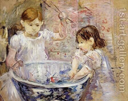 Children With A Bowl by Berthe Morisot - Reproduction Oil Painting