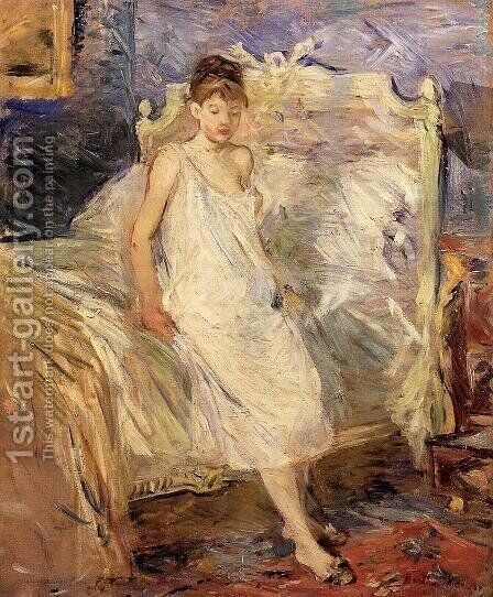 Getting Up by Berthe Morisot - Reproduction Oil Painting