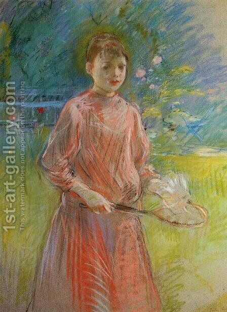 Girl With Shuttlecock Aka Jeanne Bonnet by Berthe Morisot - Reproduction Oil Painting