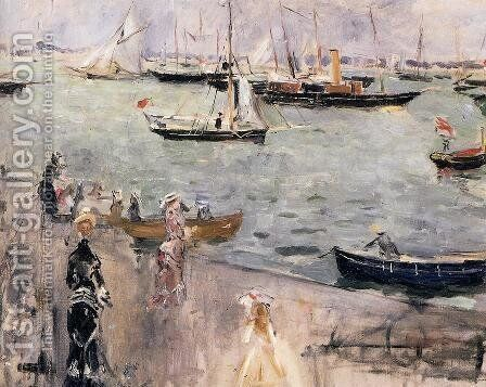 Harbor Scene  Isle Wight by Berthe Morisot - Reproduction Oil Painting