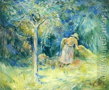 Haying At Mezy by Berthe Morisot - Reproduction Oil Painting