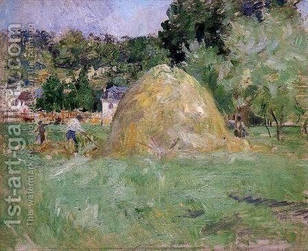 Haymakers At Bougival by Berthe Morisot - Reproduction Oil Painting