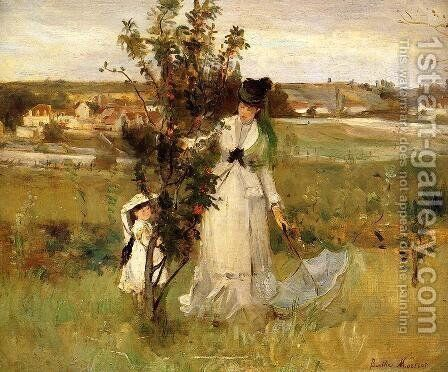 Hide and Seek 1873 by Berthe Morisot - Reproduction Oil Painting