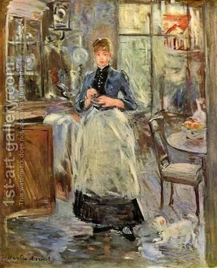 In The Dining Room 1886 by Berthe Morisot - Reproduction Oil Painting