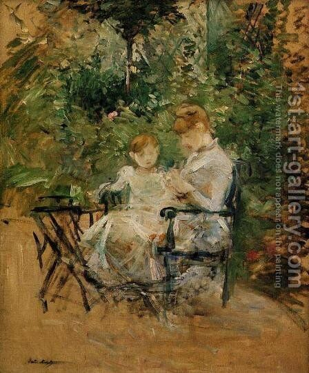 In The Garden by Berthe Morisot - Reproduction Oil Painting