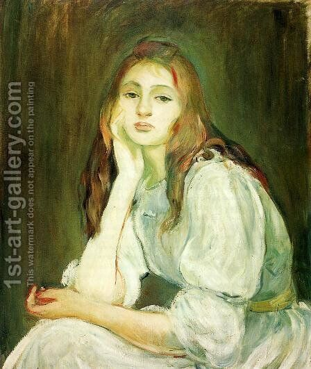 Julie Daydreaming by Berthe Morisot - Reproduction Oil Painting