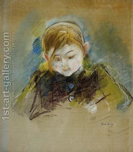 Julie Writing by Berthe Morisot - Reproduction Oil Painting