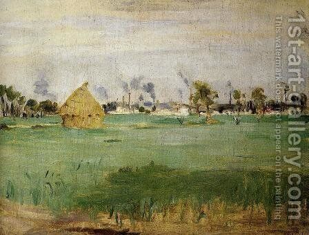 Landscape At Gennevilliers by Berthe Morisot - Reproduction Oil Painting