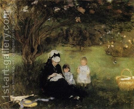 Lilacs At Maurencourt by Berthe Morisot - Reproduction Oil Painting
