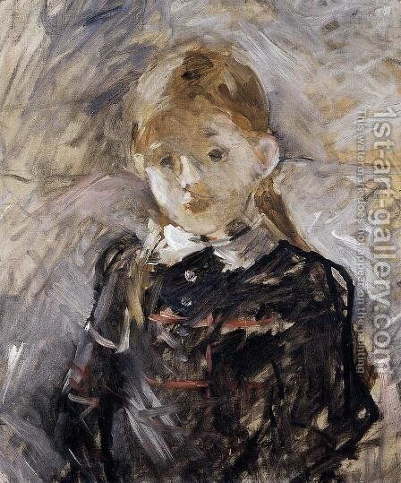 Little Girl With Blond Hair by Berthe Morisot - Reproduction Oil Painting