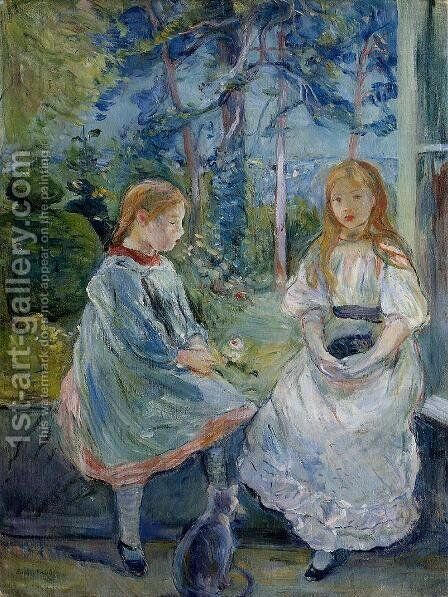 Little Girls At The Window (Jeanne And Edma Bodeau) by Berthe Morisot - Reproduction Oil Painting