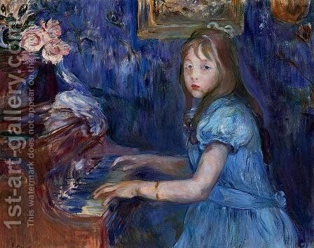 Lucie Leon At The Piano by Berthe Morisot - Reproduction Oil Painting