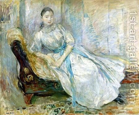 Madame Albine Sermicola In The Studio by Berthe Morisot - Reproduction Oil Painting