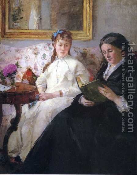 Mother And Sister Of The Artist by Berthe Morisot - Reproduction Oil Painting