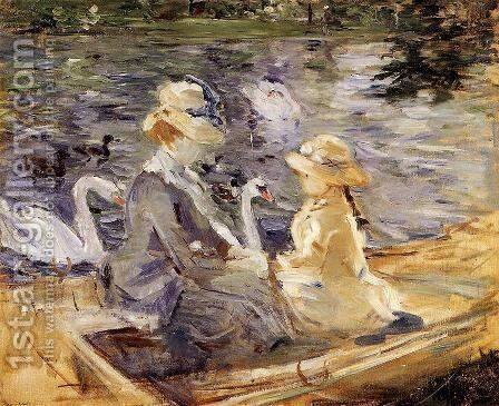On The Lake In The Bois De Boulogne by Berthe Morisot - Reproduction Oil Painting