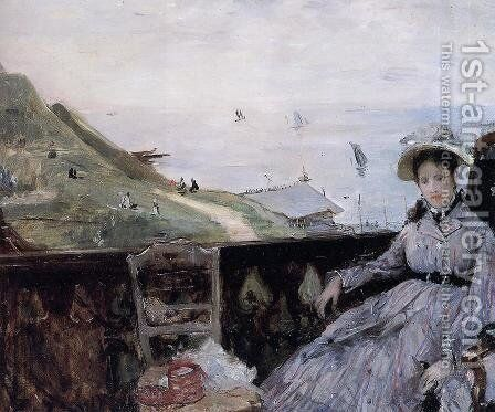 On The Terrace by Berthe Morisot - Reproduction Oil Painting