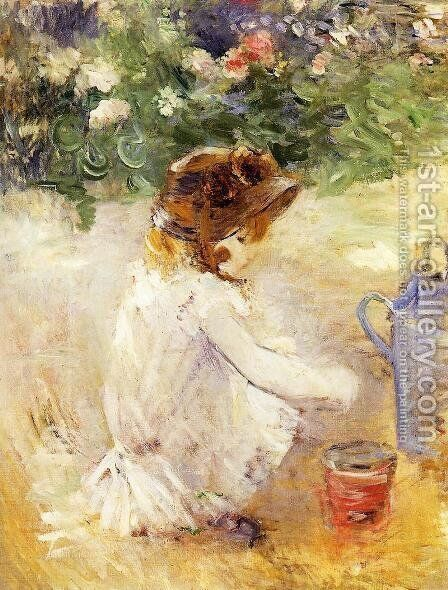 Playing In The Sand by Berthe Morisot - Reproduction Oil Painting
