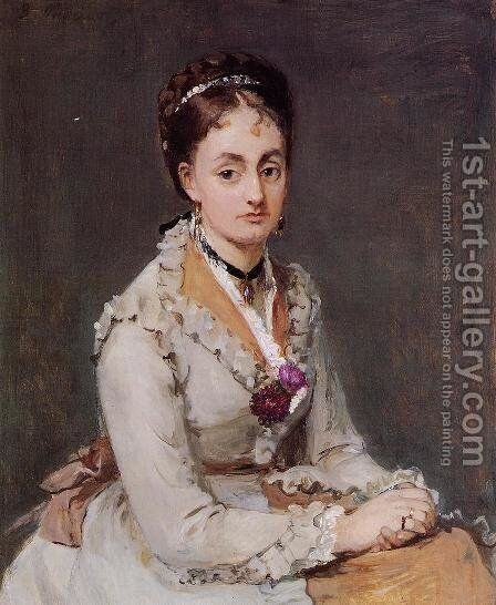 Portrait of Edma (The Artist's Sister) 1870 by Berthe Morisot - Reproduction Oil Painting