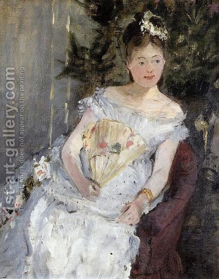 Portrait Of Marguerite Carre Aka Young Girl In A Ball Gown by Berthe Morisot - Reproduction Oil Painting