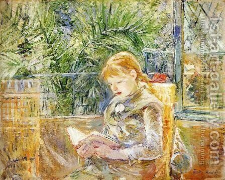 Reading by Berthe Morisot - Reproduction Oil Painting