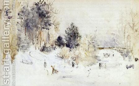 Snowy Landscape Aka Frost by Berthe Morisot - Reproduction Oil Painting