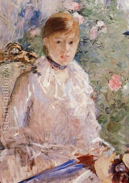 Summer (Young Woman by a Window) 1878 by Berthe Morisot - Reproduction Oil Painting