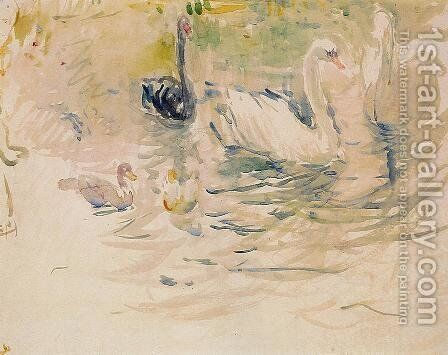 Swans by Berthe Morisot - Reproduction Oil Painting