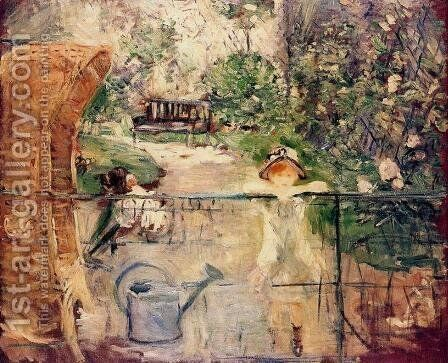 The Basket Chair by Berthe Morisot - Reproduction Oil Painting