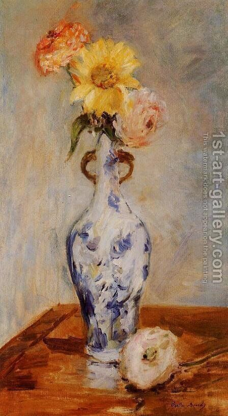 The Blue Vase by Berthe Morisot - Reproduction Oil Painting