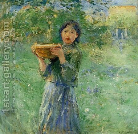 The Bowl Of Milk by Berthe Morisot - Reproduction Oil Painting