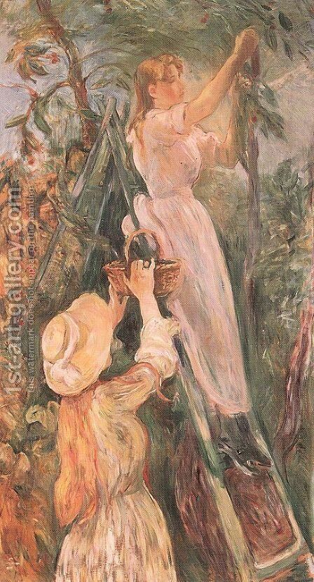 The Cherry Tree 1893 by Berthe Morisot - Reproduction Oil Painting